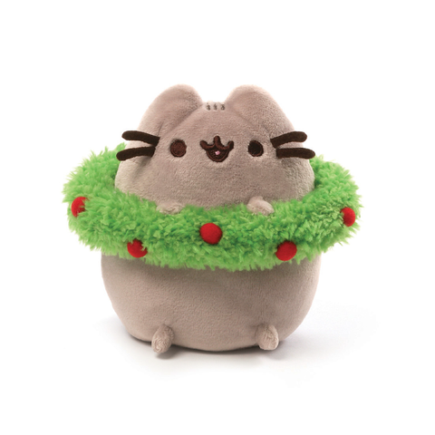 Gund Pusheen Christmas Wreath Plush 4.5"