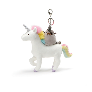Gund Pusheen Fancy On Unicorn Keychain Plush | Toy Galeria