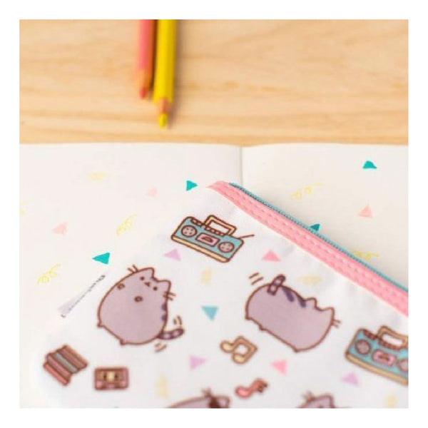 Erik Pusheen Pencil Case, Gettin' Jiggy With It, Flat, Policanvas 22cm | Toy Galeria Singapore
