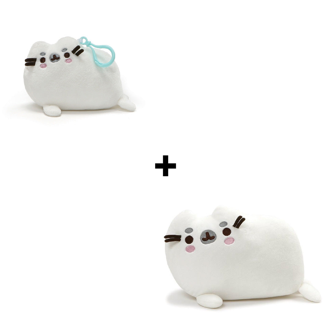 Gund Pusheen Seal Plush and Pusheen Seal Backpack Clip | Toy Galeria Singapore