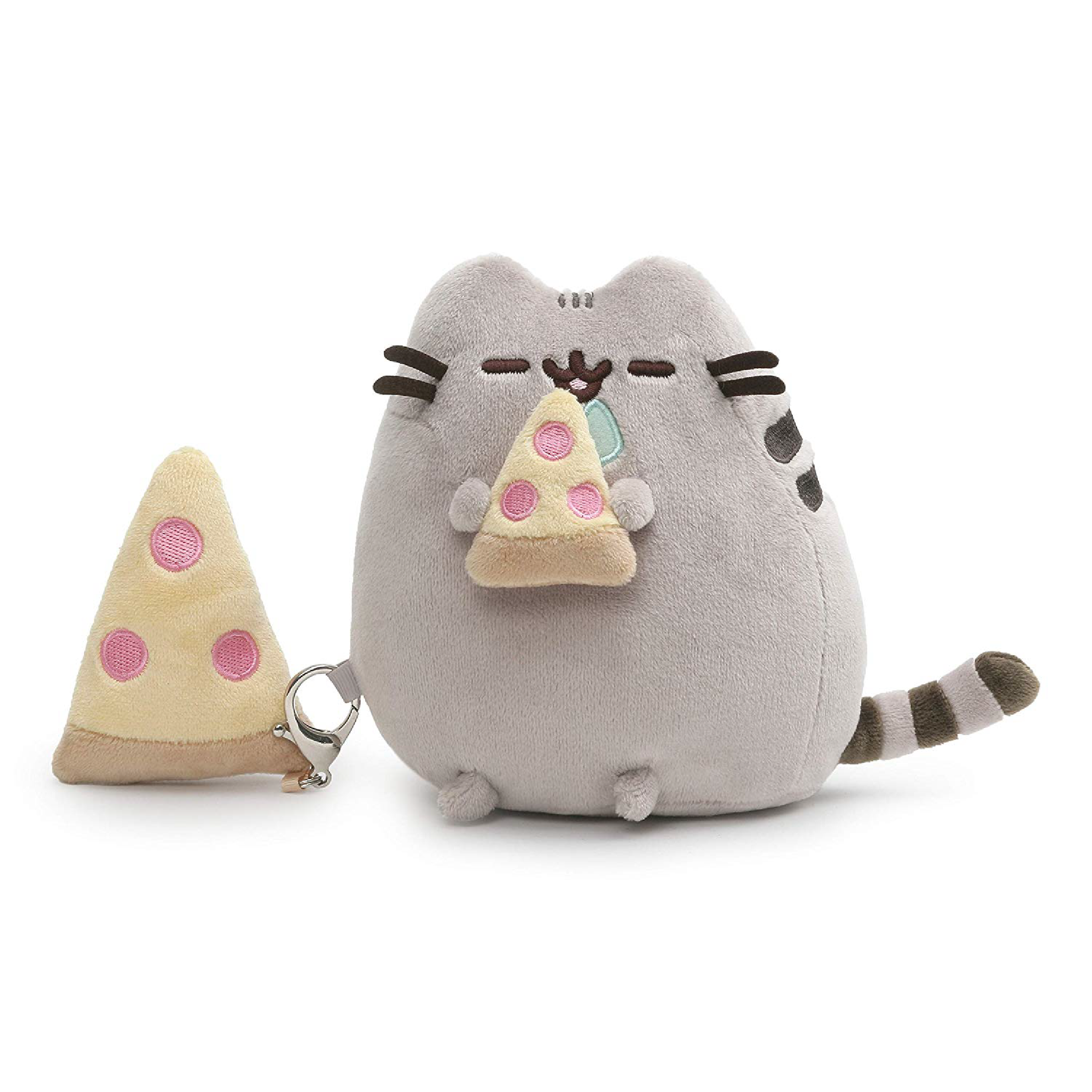 "Pusheen With Pizza Plush 6"" (Detachable Plush Backpack Clip) Singapore 