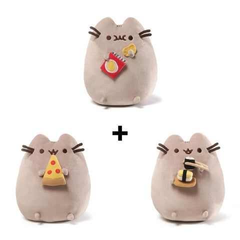 Gund Pusheen Pizza Plush and Gund Pusheen Sushi Plush and Gund Pusheen Potato Chips Plush | Toy Galeria Singapore