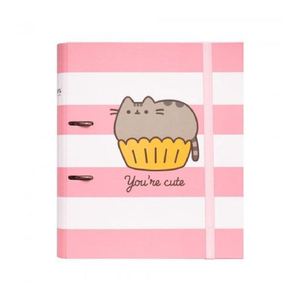 Erik Pusheen You're Cute 2 Rings Binder Rose Collection | Toy Galeria Singapore