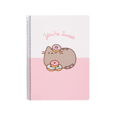 Erik Pusheen You're Sweet Notebook Polypropylene Cover A4 4X4 Rose Collection | Toy Galeria Singapore
