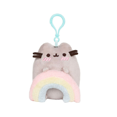 Gund Pusheen Rainbow Backpack Clip | Toy Galeria Singapore
