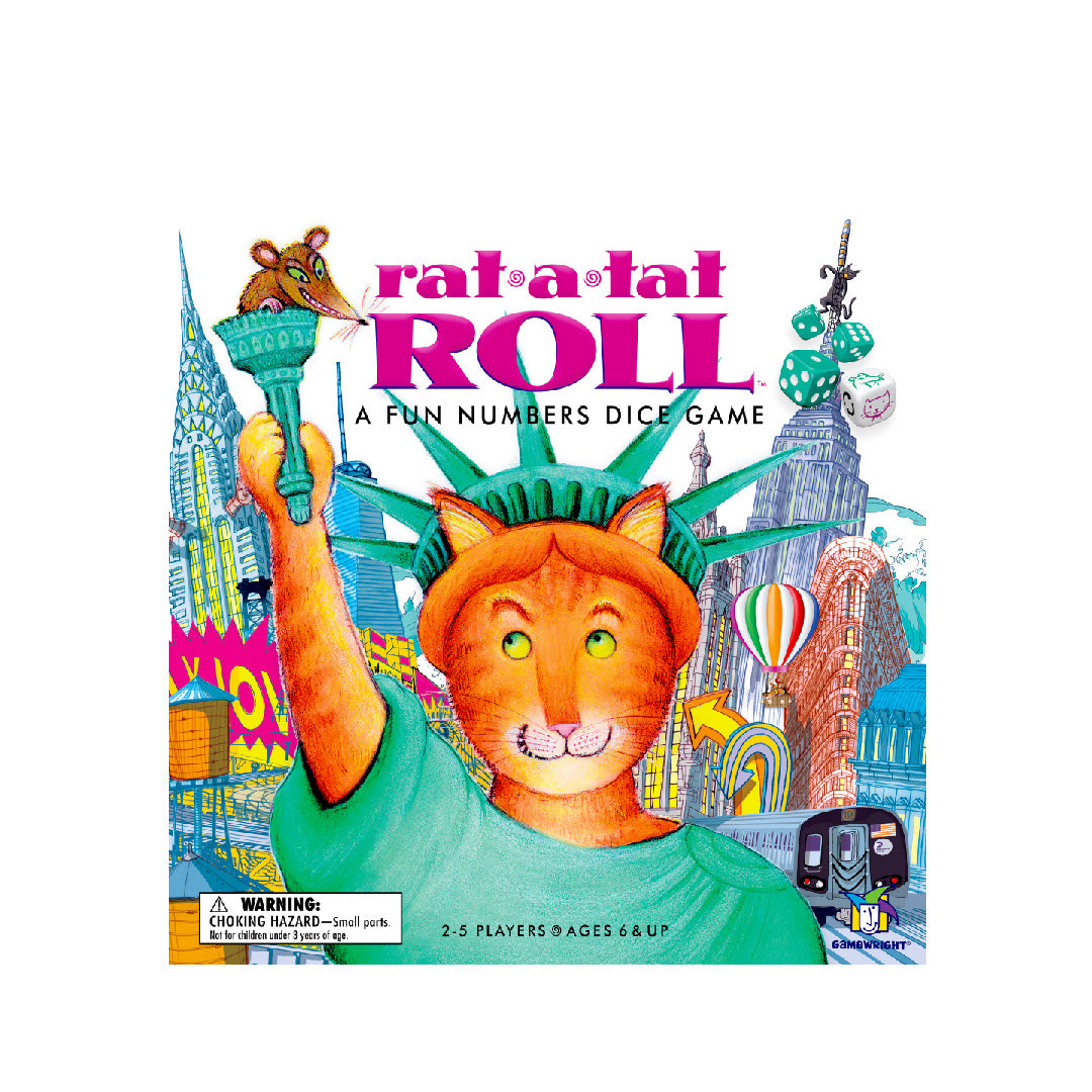 Gamewright Rat-a-Tat Roll | A Fun Numbers Dice Game | Toy Galeria Singapore