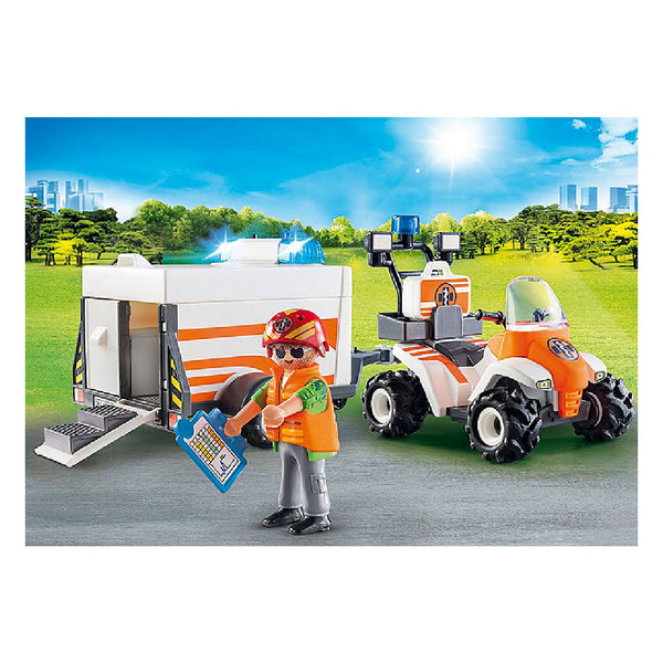 Playmobil City Life Rescue - Rescue Quad with Trailer | Toy Galeria Singapore