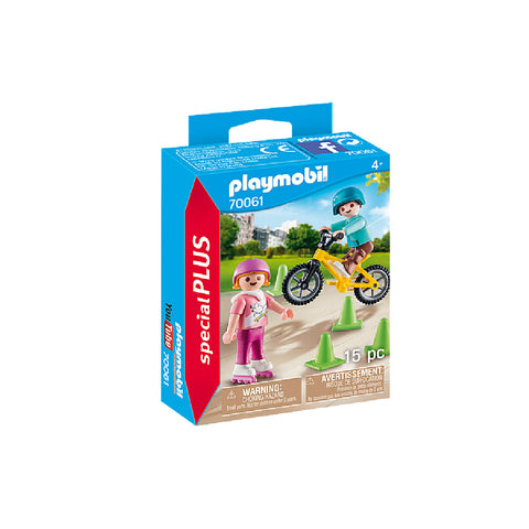 Playmobil Special PLUS - Children with Skates and Bike | Toy Galeria Singapore