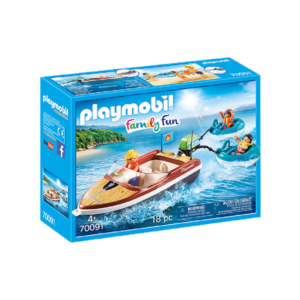 Playmobil Family Fun Camping - Speedboat with Tube Riders | Toy Galeria Singapore