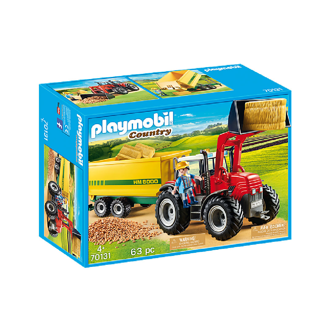 Playmobil Country Farm - Tractor with Feed Trailer | Toy Galeria Singapore