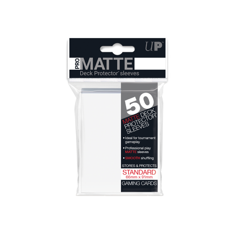 Ultra Pro Matte Standard Deck Protector Sleeves 50ct - Clear | Toy Galeria Singapore