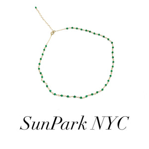 Green Onyx Choker Necklace
