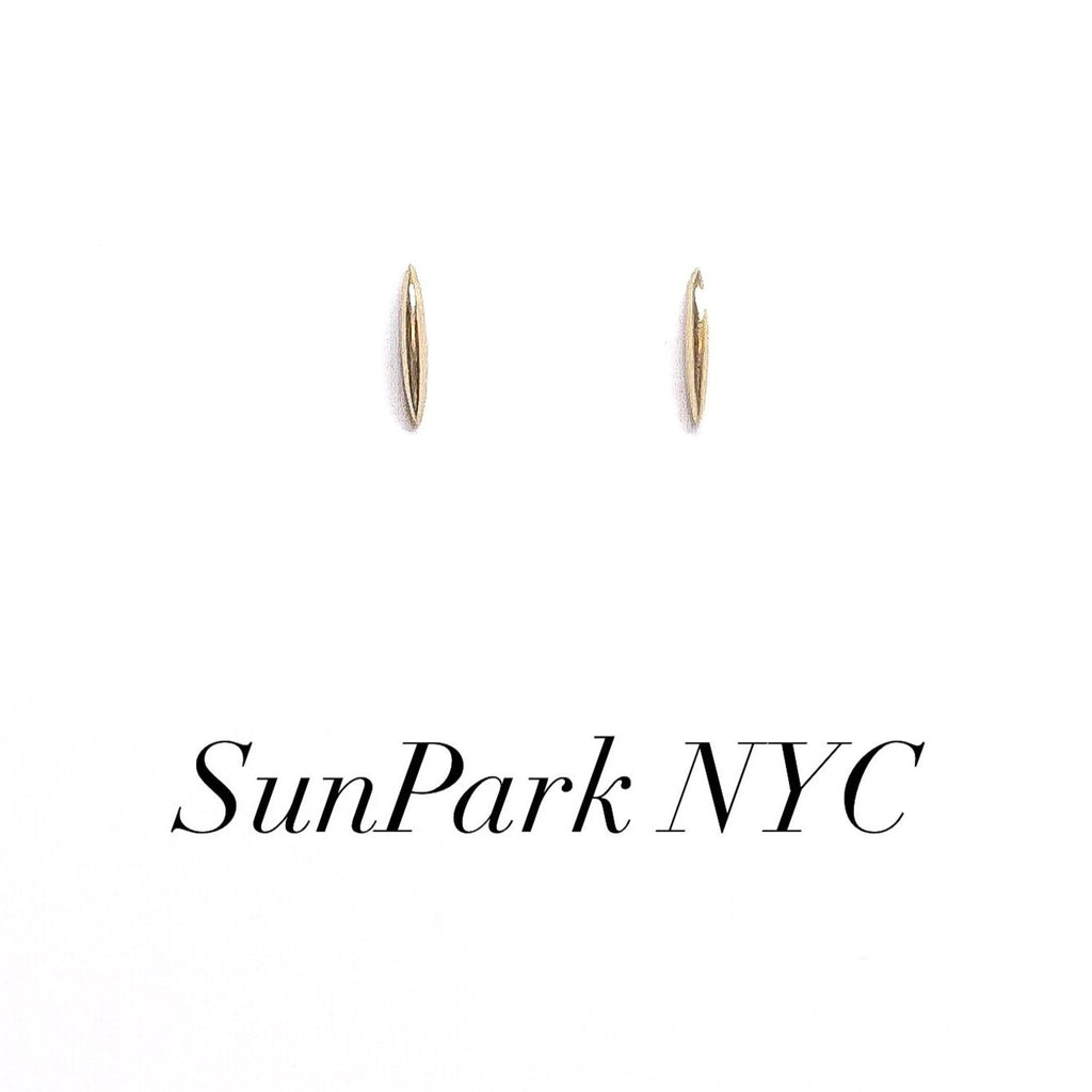 Pointy Gold Bar Studs Earrings