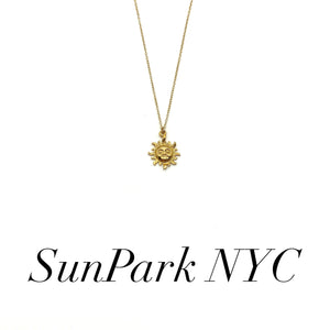 Gold Shining Sun Necklace