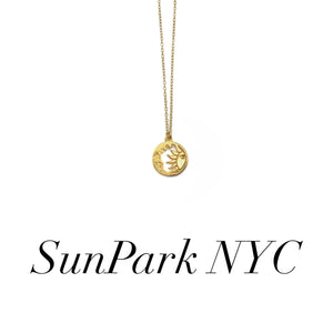 Gold Sun&Moon Charm Necklace