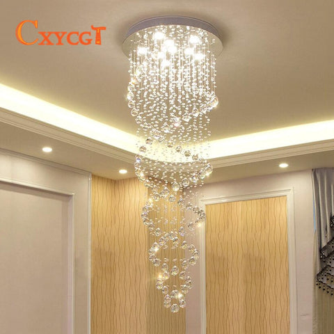 Double Spiral Chandelier