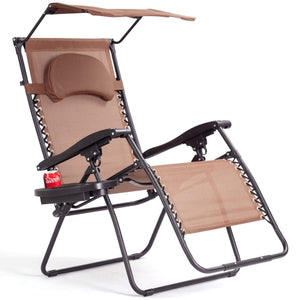 Outdoor Recliner Lounge with Cup Holder