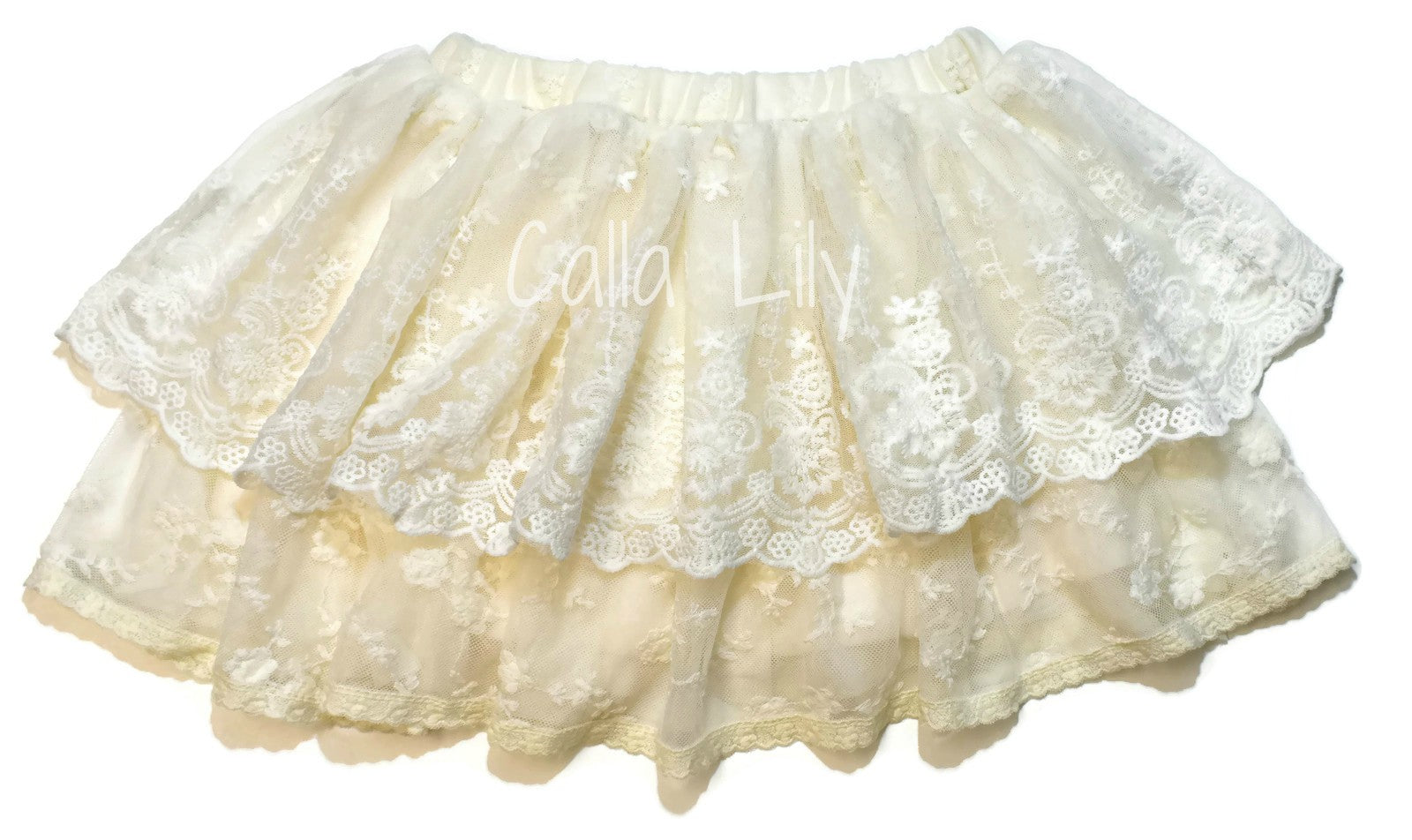 Scalloped Embroidery Skirt