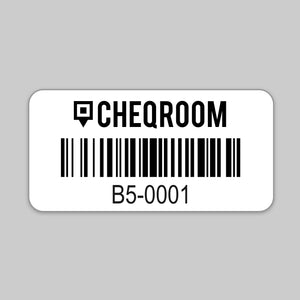 100 Tiny Asset Labels (0.6″ x 1.4″ rectangular)