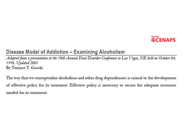 Disease Model of Addiction – Examining Alcoholism