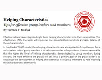 Helping Characteristics for Groups - Quick Tips