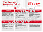 The Relapse Recovery Grid - 3 page poster or handout- Professional Use