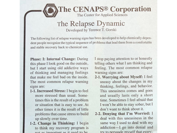 The Relapse Dynamic