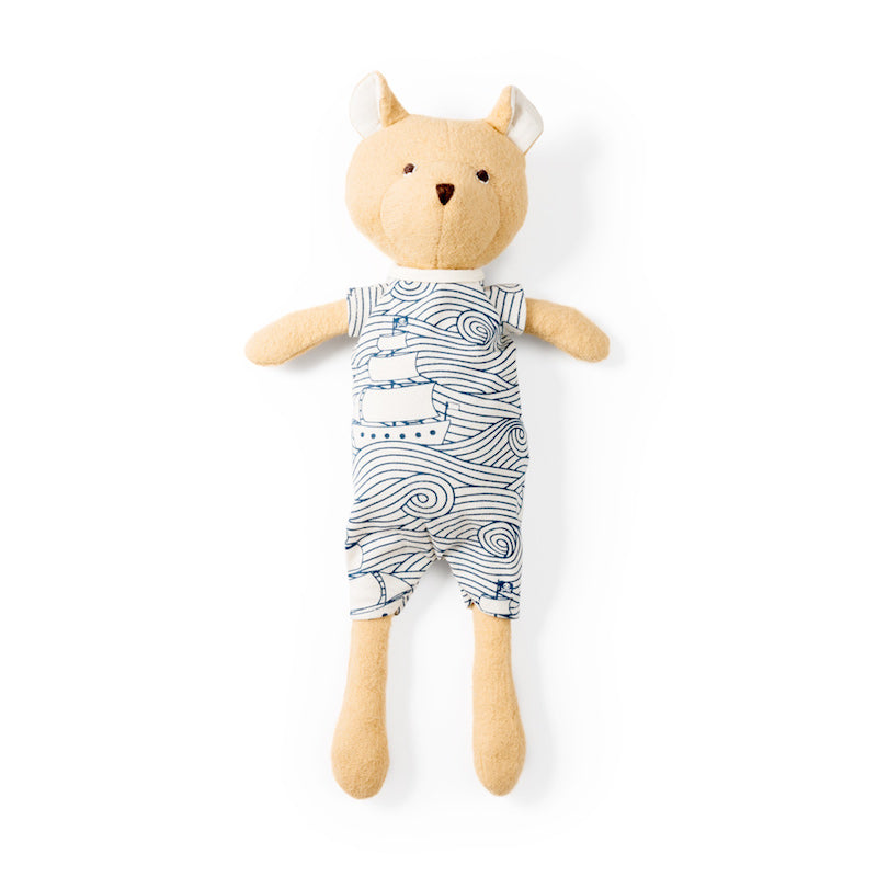 Hazel Village Nicholas Bear Cub in High Seas Romper