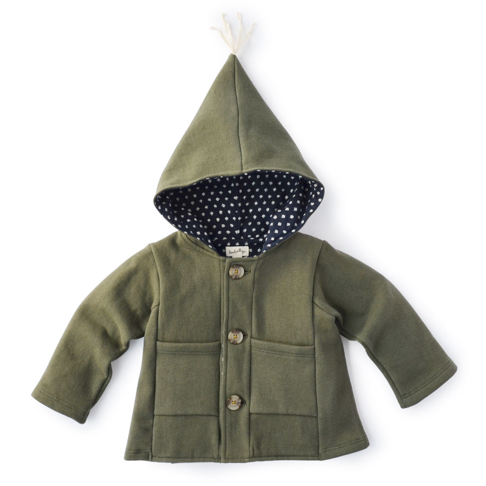 Forest Green elf jacket to fit Hazel Village dolls and animals