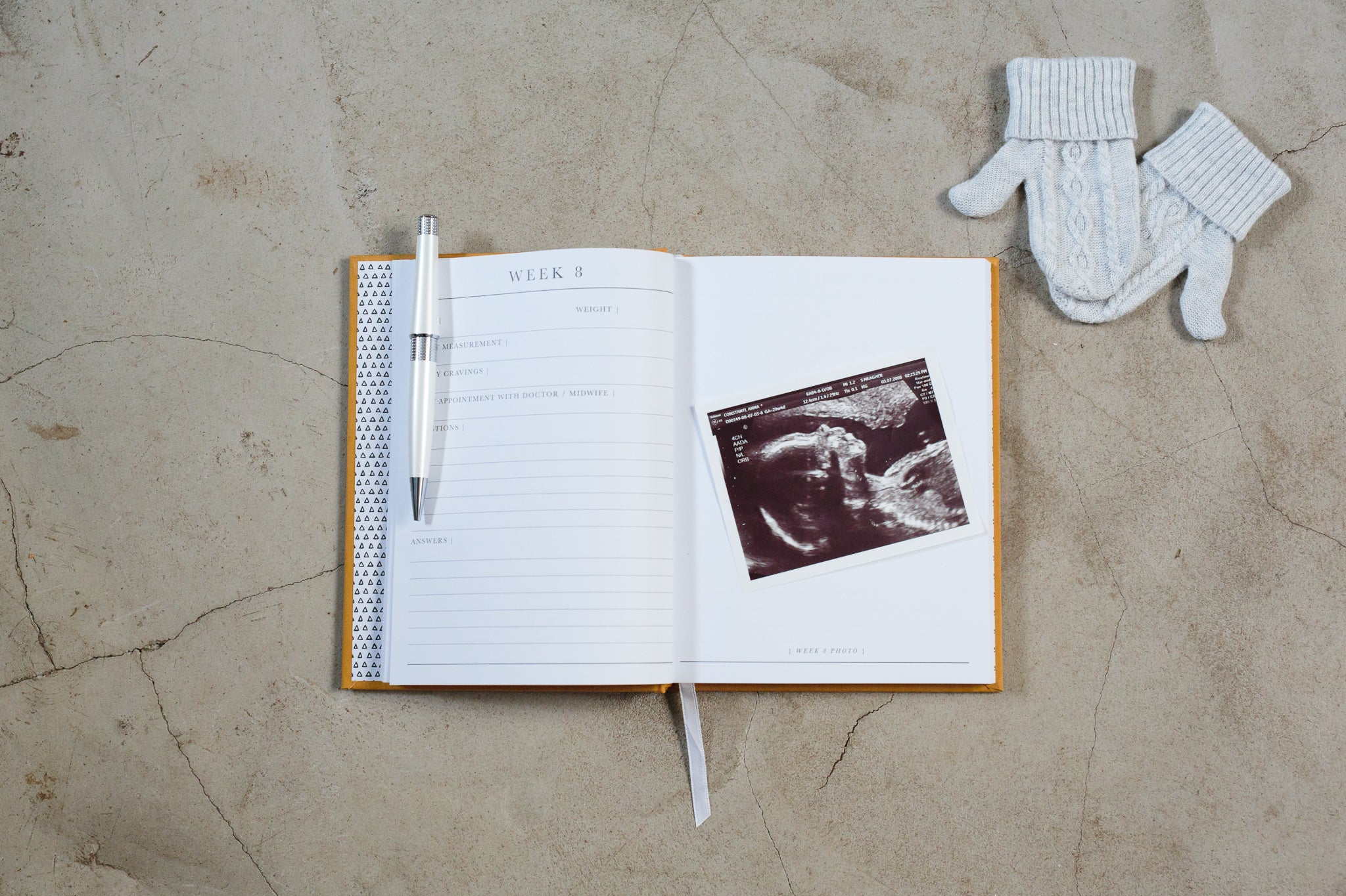 Write To Me pregnancy journal open - 9 months the beginning of you