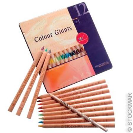 AMS Colour Giants Pencils - 12 in Tin - Stockmar and Lyra