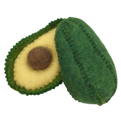 Papoose felt toy - pretend food - avocado. Made of pure wool