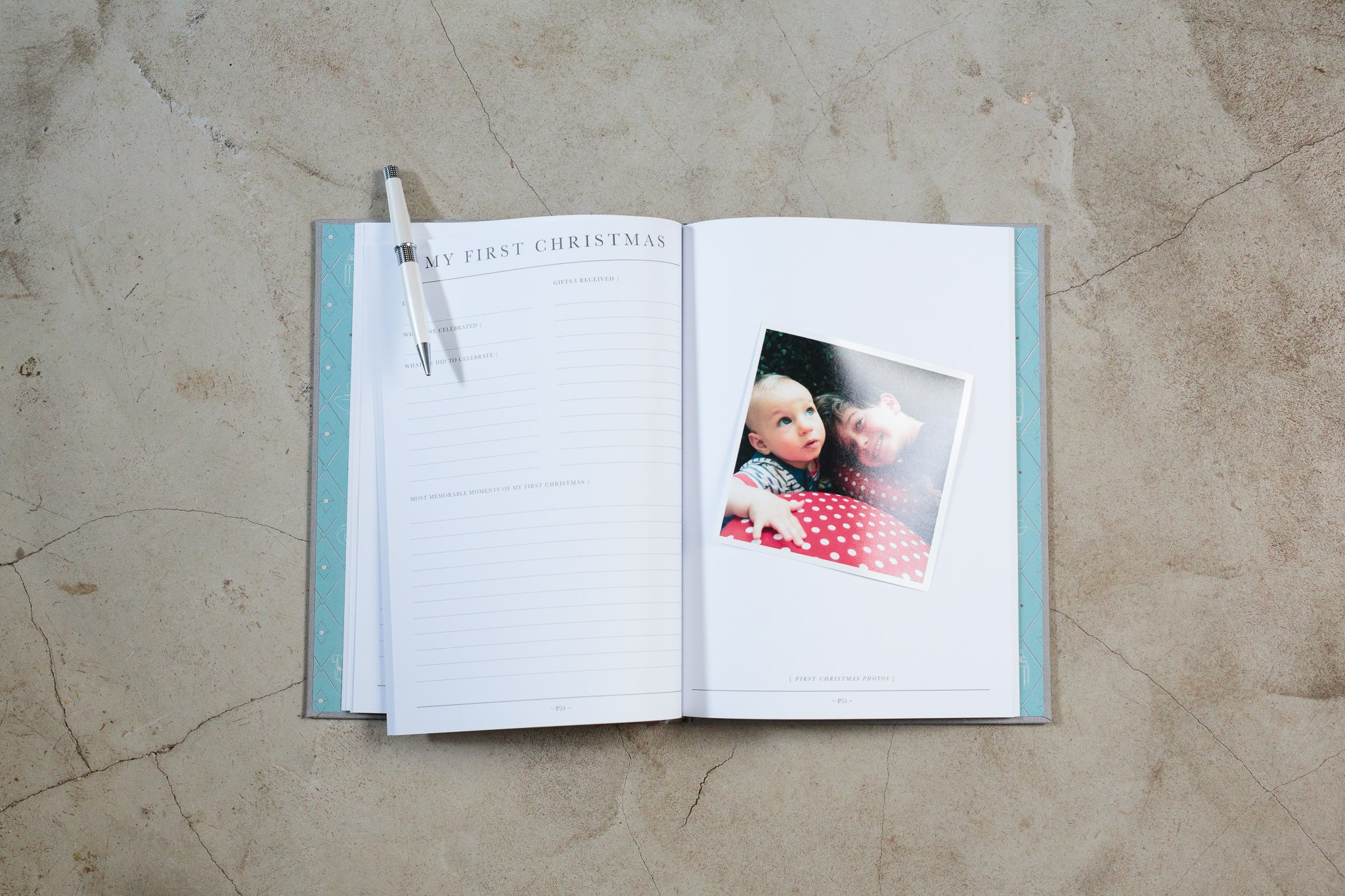 Open baby journal - Write to Me birth to five years