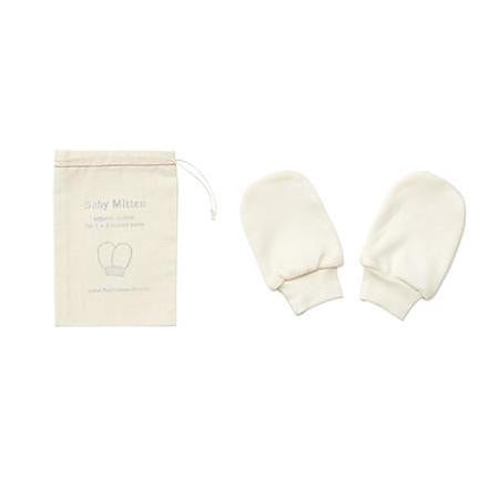 Fog Linen Work organic cotton baby mittens and cotton drawstring bag