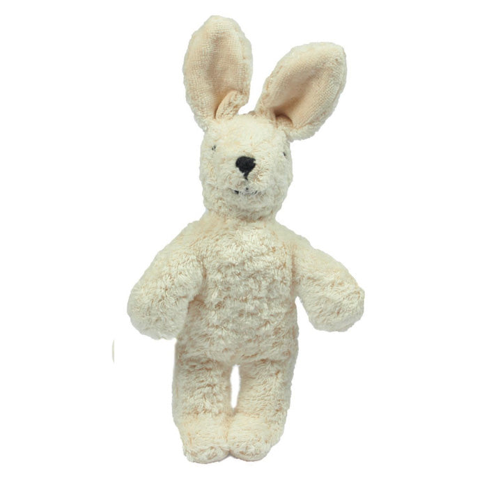 Senger Naturwelt organic cotton baby rabbit in white - baby toys handmade in Germany