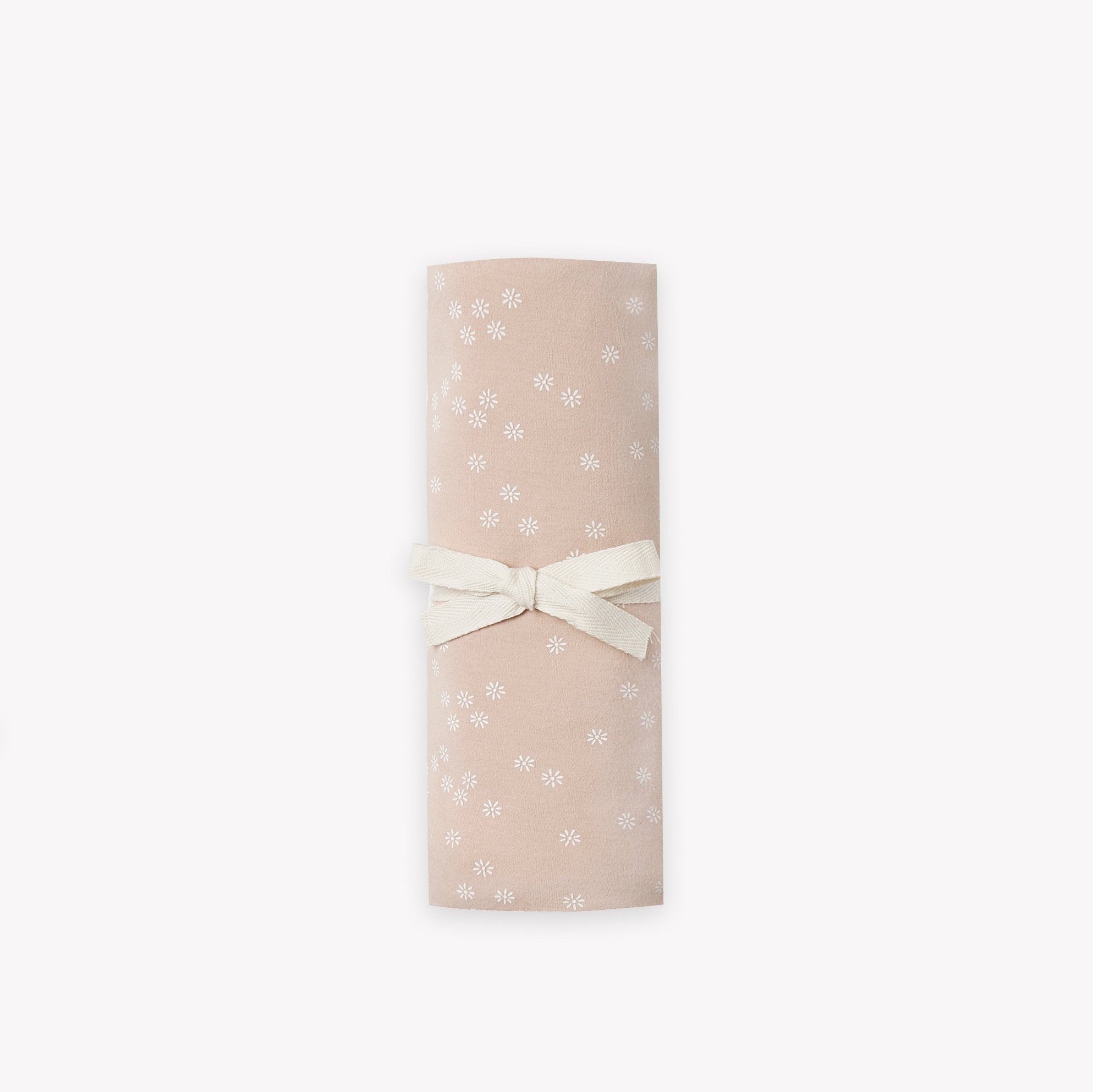 Quincy Mae organic cotton baby swaddle blanket - rose