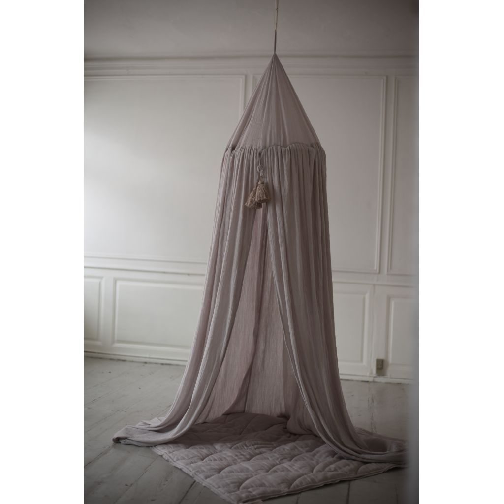 Konges Sloejd organic cotton muslin bed canopy - nimbus cloud