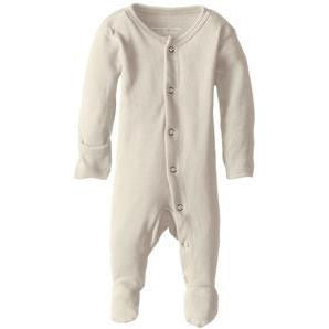 Loved Baby Organic Cotton Footed Overall in Beige