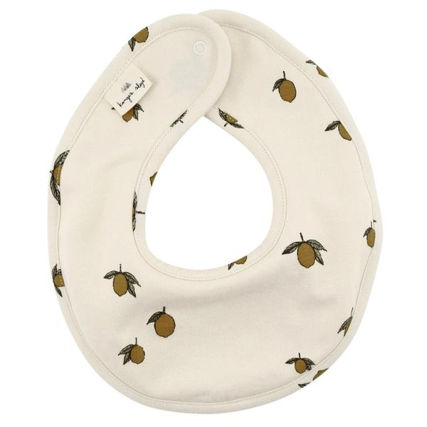 Konges Slojd Organic Cotton Bib - Lemon