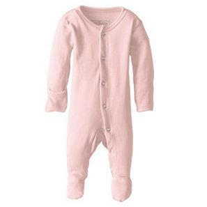 Loved Baby Organic Cotton Footed Overall in blush