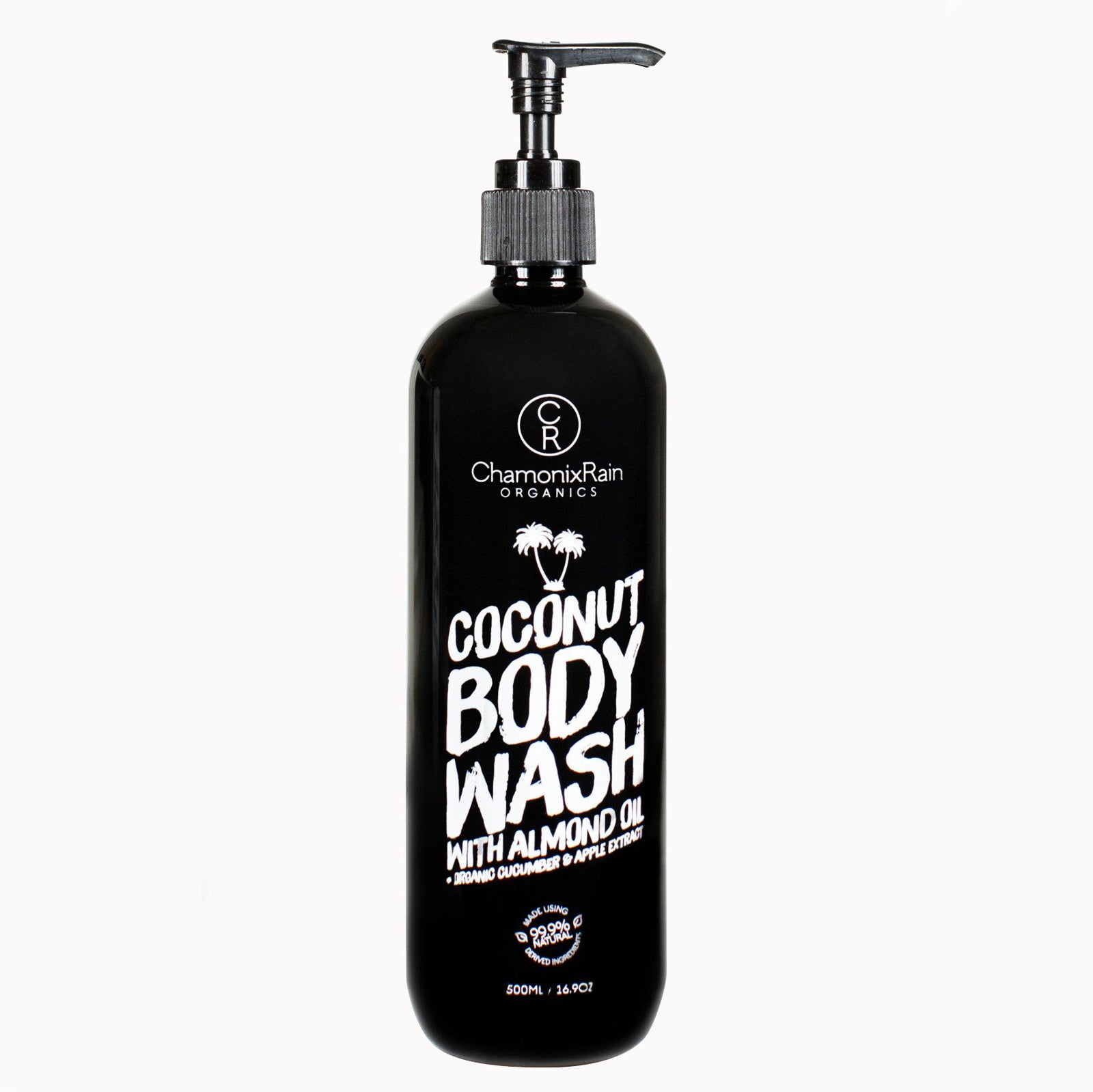 Pump bottle of Chamonix Rain Organics coconut body wash