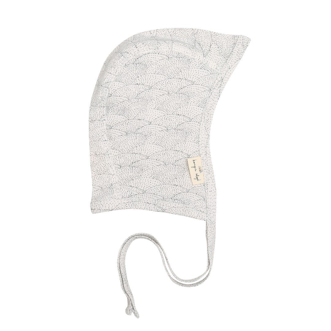 Konges Sløjd off white organic cotton bonnet in seashell print