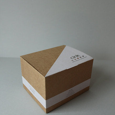 Cardboard packaging - box for the Cink Bamboo baby dinnerware gift box including bowl, sippy cup and spoon