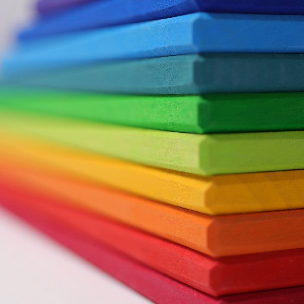 Grimm's wooden building boards rainbow