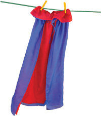 Sarah's Silks reversible silk cape - red and royal blue