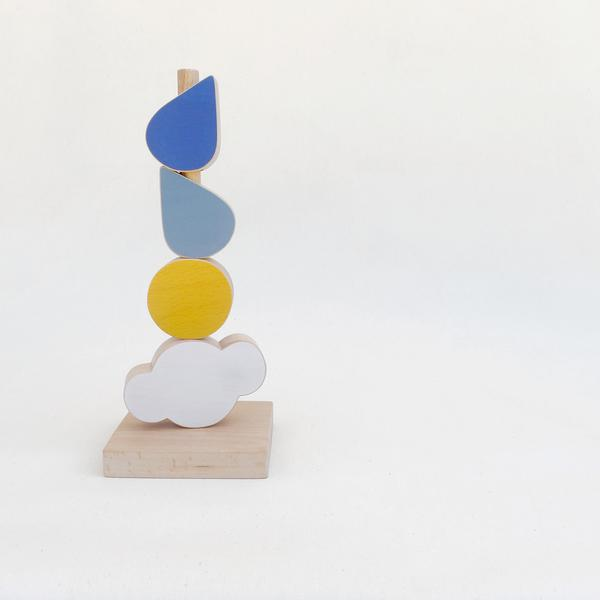 The Wandering Workshop Catch the Cloud wooden stacking toy