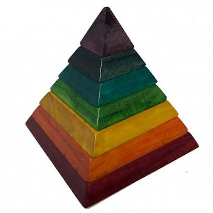 In-wood Chakra Rainbow Pyramid