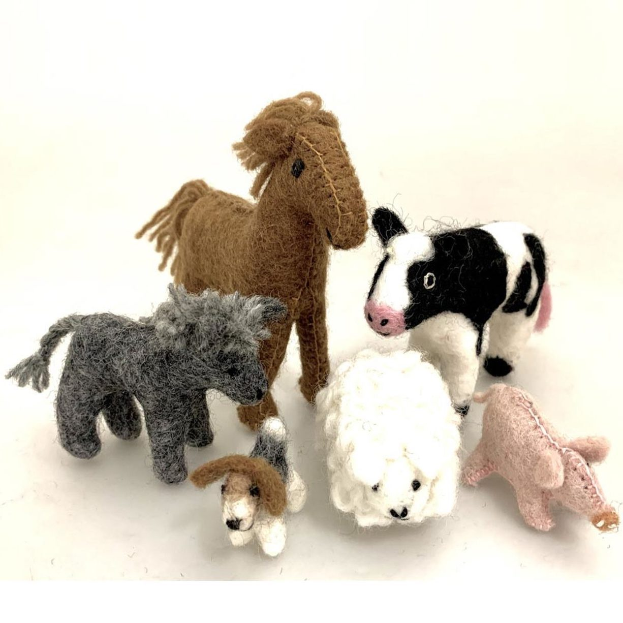 Papoose felt country animals - 6 pieces
