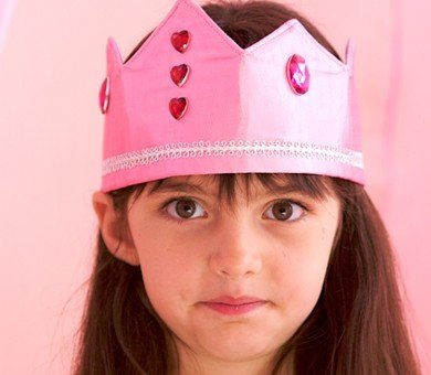 Sarah's Silks reversible silk crown - pink princess