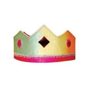 Sarah's Silks reversible silk crown - rainbow pink